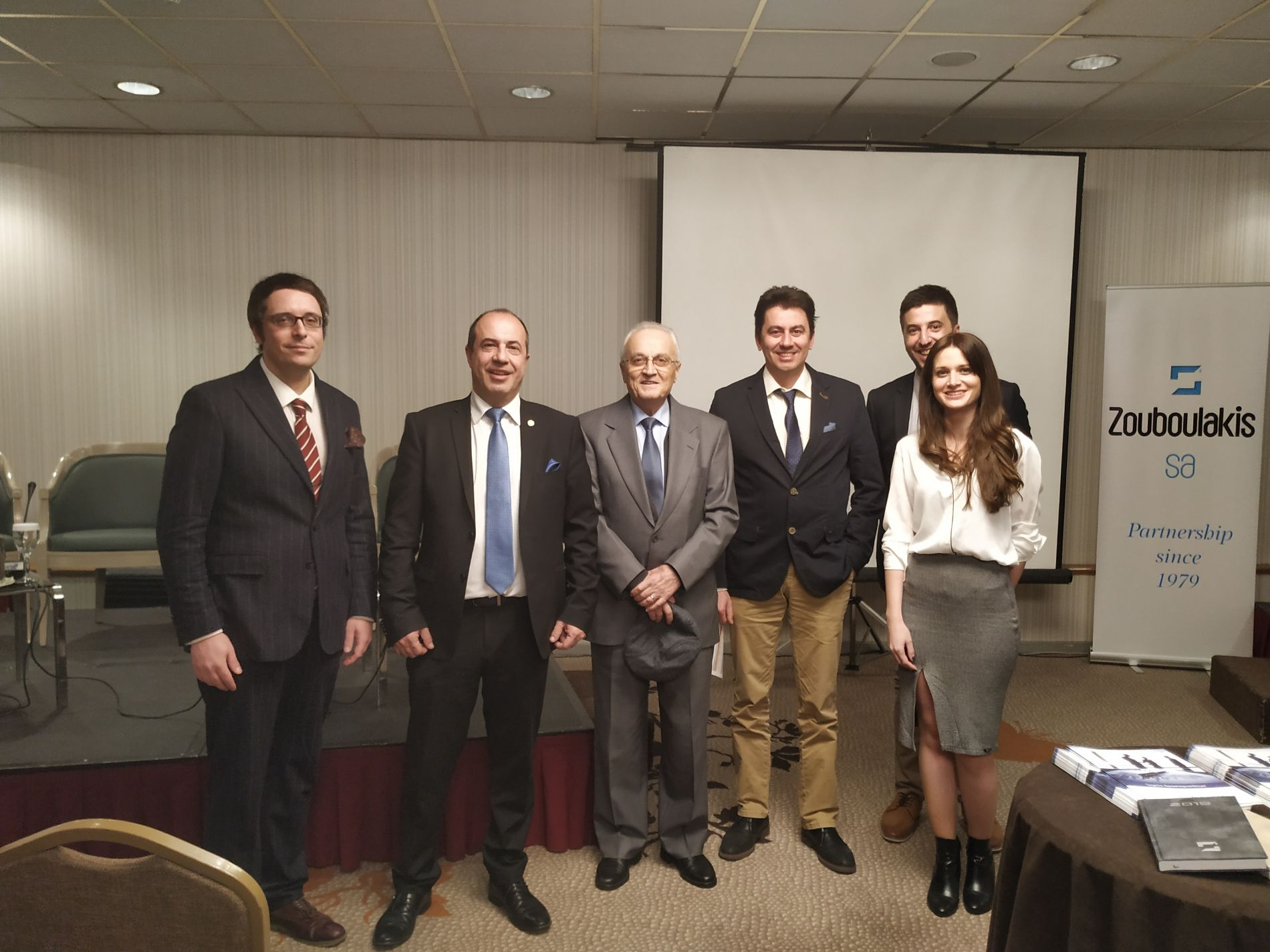 The declaimers together with the mentor and founder of the company Mr Ioannis Zouboulakis